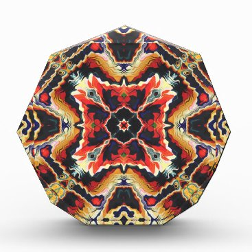 Aztec Themed Colorful Tribal Geometric Abstract Acrylic Award