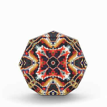 Aztec Themed Colorful Tribal Geometric Abstract Award