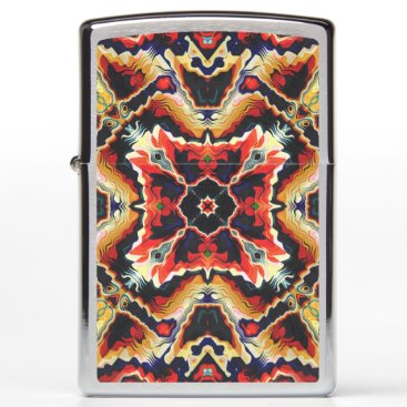 Colorful Tribal Geometric Abstract Zippo Lighter