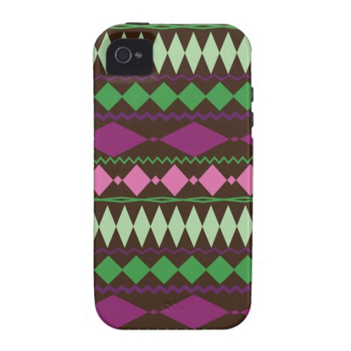 Colorful Tribal Geometric Pattern Design Case-Mate iPhone 4 Cover