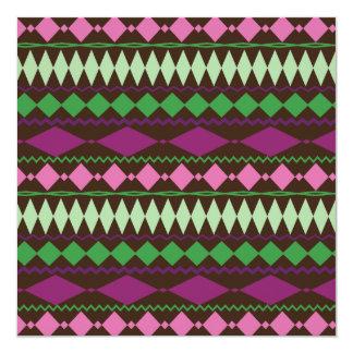 Colorful Tribal Geometric Pattern Design Invitation