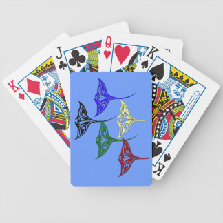 Colorful Tribal Hawaiian Rays Deck Of Cards