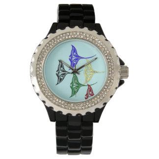 Colorful Tribal Hawaiian Rays Wrist Watch