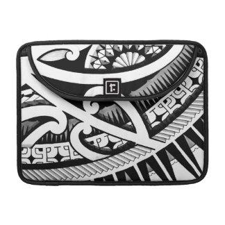 Colorful tribal Maori Polynesian tattoo drawing Sleeve For MacBooks