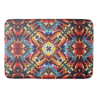 Colorful Tribal Motif Bathroom Mat