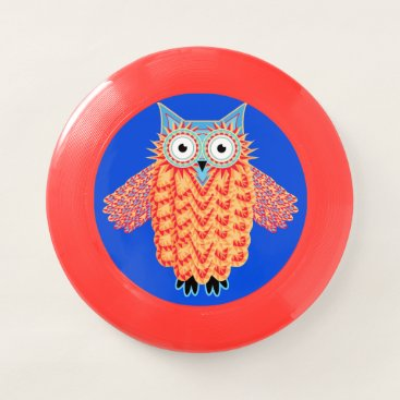 Aztec Themed Colorful Tribal Owl Wham-O Frisbee