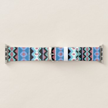 Aztec Themed Colorful Tribal Pattern Apple Watch Band