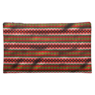 Colorful tribal pattern cosmetic bag