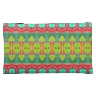 Colorful tribal pattern makeup bags