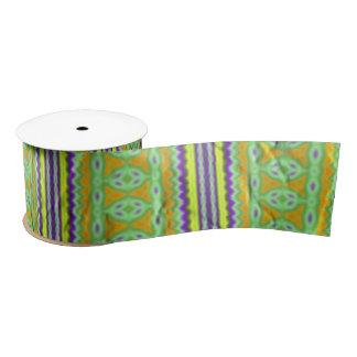 Colorful tribal pattern blank ribbon