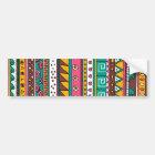Colorful Tribal pattern Bumper Sticker