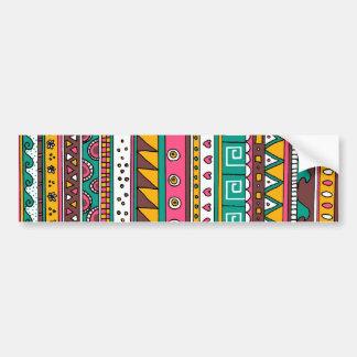 Colorful Tribal pattern Car Bumper Sticker