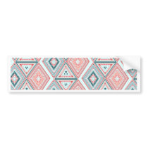 Colorful Tribal Pattern Bumper Sticker