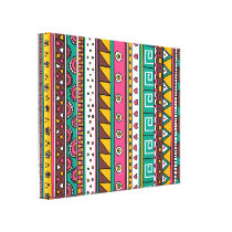 Colorful Tribal pattern Canvas Print