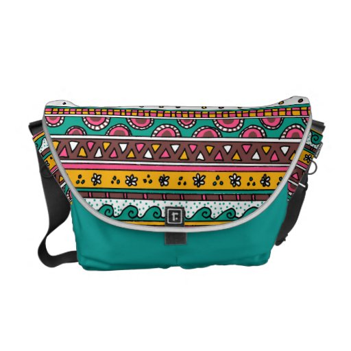 Colorful Tribal pattern Commuter Bags