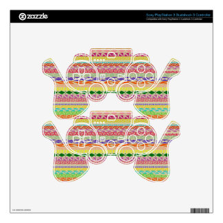 Colorful Tribal Pattern Decal For PS3 Controller
