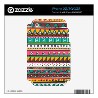 Colorful Tribal pattern Decal For The iPhone 3