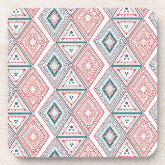Colorful Tribal Pattern Drink Coaster