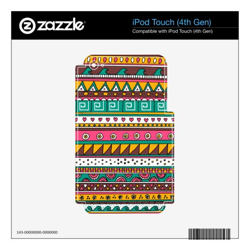 Colorful Tribal pattern iPod Touch 4G Skins