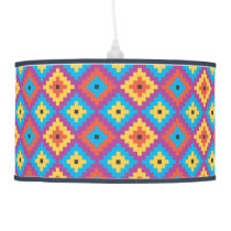 colorful tribal pattern lamp