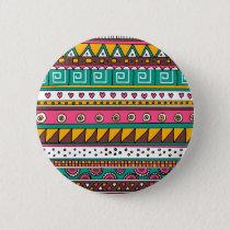 Colorful Tribal pattern Pinback Button