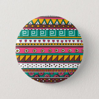 Colorful Tribal pattern Pinback Button