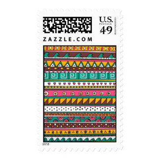 Colorful Tribal pattern Stamps
