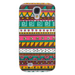 Colorful Tribal pattern Samsung Galaxy S4 Covers