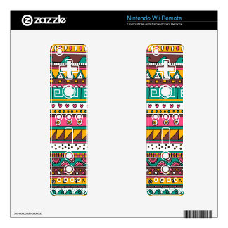 Colorful Tribal pattern Skin For The Wii Remote
