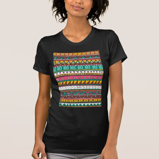 Colorful Tribal pattern Tee Shirt