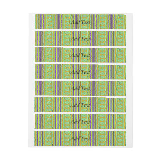 Colorful tribal pattern wrap around address label