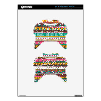Colorful Tribal pattern Xbox 360 Controller Decal
