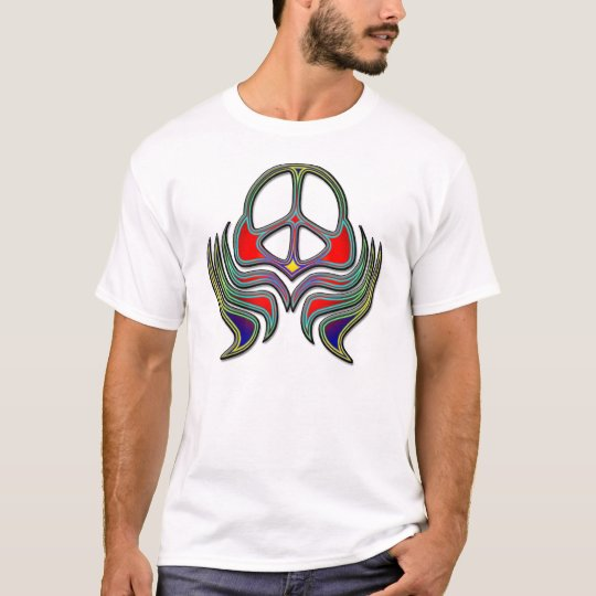 COLORFUL TRIBAL STYLE PEACE SIGN T-Shirt