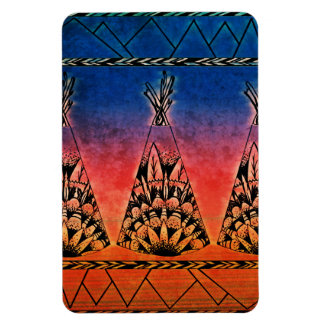 Colorful Tribal Teepees Art Boho Design Magnet