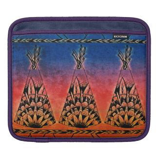 Colorful Tribal Teepees Art Boho Design Sleeve For iPads
