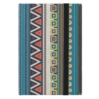 Colorful Tribal Zigzag Cross-Stitch Texture Cover For iPad Mini