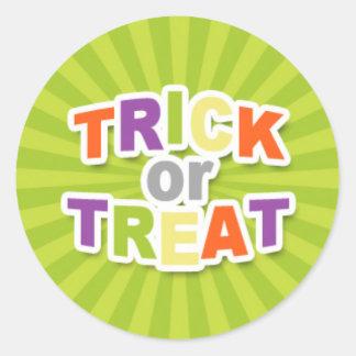 Colorful Trick or Treat Design.jpg Classic Round Sticker
