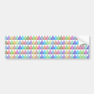 colorful trifish more hipster bumper sticker