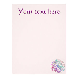 Colorful triskele image letterhead