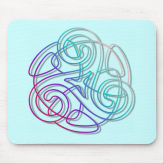 Colorful triskele image mouse pad