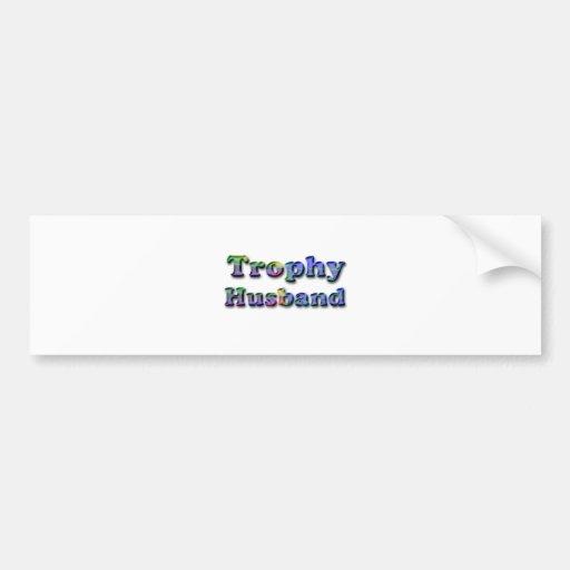 Colorful Trophy Husband Bumper Sticker