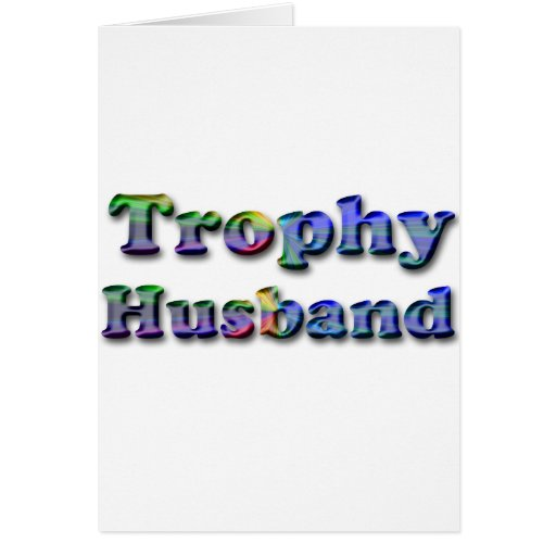 Colorful Trophy Husband Greeting Cards