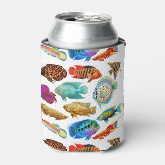 Colorful Tropical Aquarium Fish Can Cooler