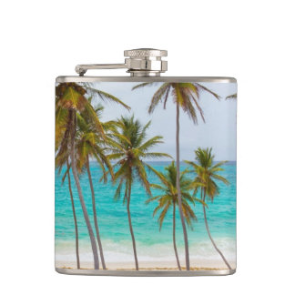 Colorful Tropical Beach Flask