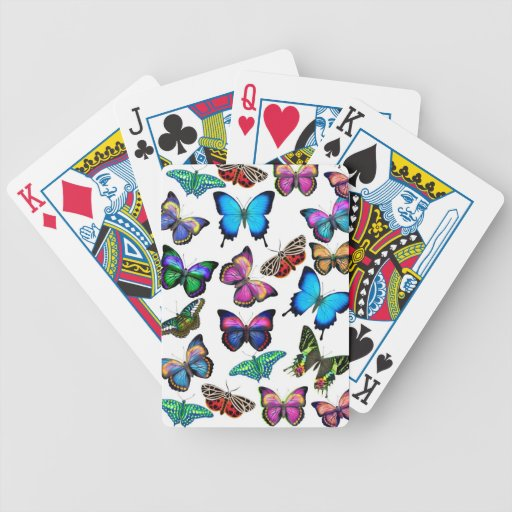 Colorful Tropical Butterflies Playing Cards