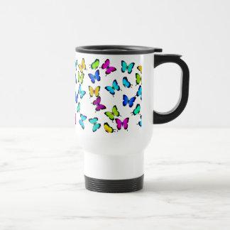 Colorful Tropical Butterflies Travel Mug