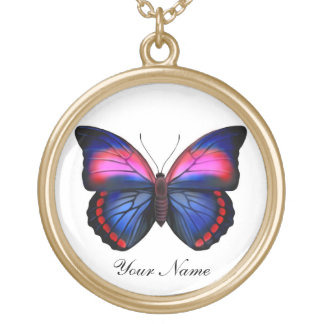 Colorful Tropical Butterfly Customizable Necklace