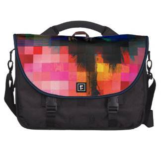 Colorful Tropical Collage Mosaic Bag For Laptop