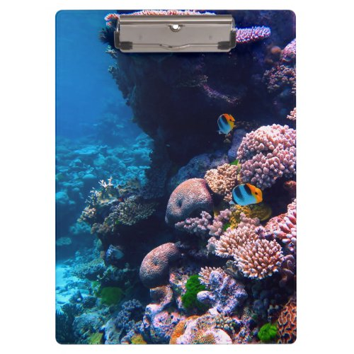 Colorful Tropical Coral Reef Clipboard
