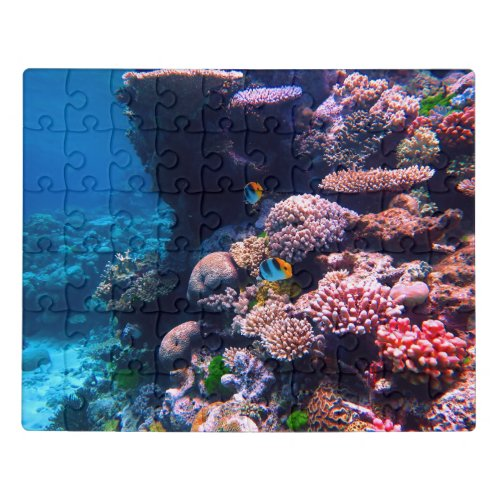 Colorful Tropical Coral Reef Jigsaw Puzzle